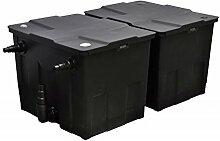 Festnight Teichfilter Filteranlage Teich Filter Gartenteich-Filter Max. Pumpenleistung 12000 l/h