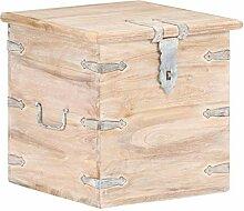 Festnight Truhe Holz Aufbewahrungsbox