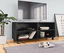 Festnight TV Schrank mit 2 Regalen und 2 Schr/änken Fernsehtisch TV Lowboard Tisch TV M/öbel TV Schrank Spanplatte 95 x 35 x 36 cm Eiche
