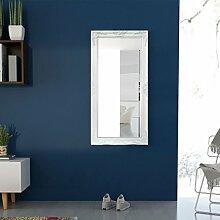 Festnight Wandspiegel im Barock-Stil Spiegel Flurspiegel Frisierspiegel Barockspiegel 120x60 cm Weiß
