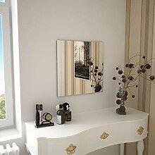 Festnight- Wandspiegel Quadratisch Wohnzimmer |