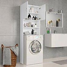 Festnight Waschmaschinenschrank Weiß