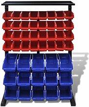 Festnight Werkstattboxen mit Ständer Sichtboxen
