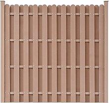 Festnight WPC Gartenzaun Zaunplatte mit 2 Pfosten Sichtschutzzaun Windschutzzaun 180 x 180 cm Quadratisch Braun