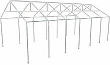 Festnight zelt gestell Zeltrahmen Pavillon Zeltrahmen Pavillon Stahl Rahmen Party Zelt Rahmen 12 x 6m