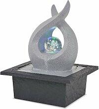 Festnight Zimmerbrunnen Tischbrunnen Dekobrunnen mit LED Polyresin