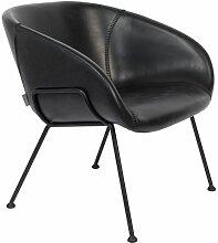 Festoon Lounge-Stuhl schwarz
