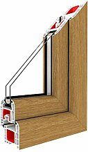 Festverglasung Fenster Eiche Natur beidseitig 1