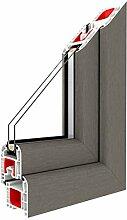 Festverglasung Rahmen Betongrau/PVC/Glas:2-Fach,
