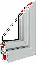 Festverglasung Rahmen Lichtgrau/PVC - BxH:900x600,
