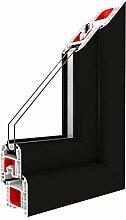 Festverglasung Rahmen Light Black/PVC/Glas:3-Fach,
