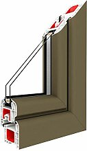 Festverglasung Rahmen Pyrite/PVC - Glas:3-Fach,
