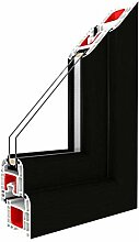 Festverglasung Rahmen Schwarzbraun/PVC -