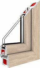 Festverglasung Rahmen Sheffield Oak Light/PVC -