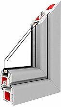 Festverglasung Rahmen Silber D/PVC - BxH:500x800,