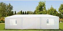 Festzelt DANUBE, weiß, 4 x 8m, Partyzelt, Stahlgestänge, PE 140gr Top Cover