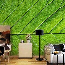 Fett Tapete Nordic 3D Blätter Grüne Tapete