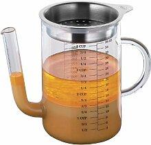 Fett-Trennkanne aus Glas mit Edelstahl 1L -