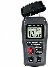 Feuchtigkeitsmesser, Queta Digital Feuchtigkeitsmessgerät, ± 0.5% Genauigkeit Holzfeuchtigkeitsmesser mit 2 Elektrodenmessstifte/ 4 Typen von Holzarten / LCD Anzeige Feuchtemesser(ABS Plastik)