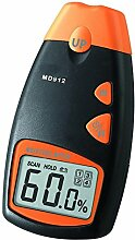 Feuchtigkeitsmesser - TOOGOO(R)MD912 Werkzeuge Digitaler Feuchtigkeitsmesser fuer Holz, Rigipsplatten, Teppiche, 2-Pin-Sensor (Bereich 2% - 70% relative Luftfeuchtigkeit; Genauigkeit: 0.5%)