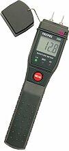 FEUCHTIGKEITSMESSGERÄT Feuchtigkeitsmesser Feuchtigkeitswiderstandmessgerät Feuchtigkeitswiderstandmesser FCE nach EU-Norm für die Baustelle Brennholz Holz Gips Baumaterial.