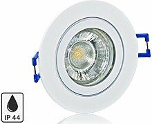 Feuchtraum LED Einbaustrahler Set IP44 mit Marken