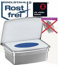 Feuchttücherbox aus hochwertigem Edelstahl -