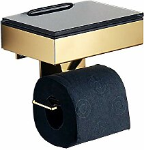 Feuchttücherbox/Rollenhalter Edelstahl goldfarben