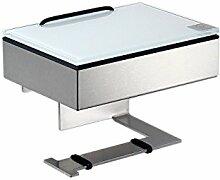 Feuchttücherbox / Rollenhalter Edelstahl matt -