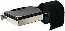 Feuchttücherbox/Toilettenrollenhalter Edelstahl,