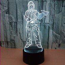 Feuer 3d lampe fernbedienung schalter acryl