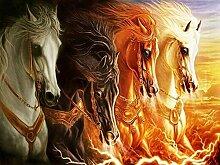 Feuer Pferd Diamant Malerei 5D DIY Tier Voll