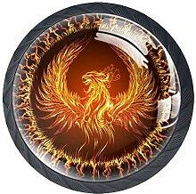 Feuer Phoenix 1 Schubladenknöpfe Lupe Abbildung