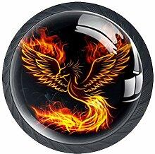Feuer Phoenix 3 Schubladenknöpfe Lupe Abbildung