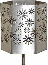 Feuer und Stahl Gartenfackel Blumen aus Edelstahl, Terrasse, Geschenkidee, Dekoration, Frühling, Sommer, Ostern, Feuer