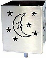 Feuer und Stahl Gartenfackel Mond und Sterne aus Edelstahl, Terrasse, Dekoration, Geschenkidee, Feuer
