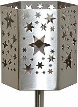 Feuer und Stahl Gartenfackel Sterne aus Edelstahl, Terasse, Geschenkidee, Dekoration, Feuer
