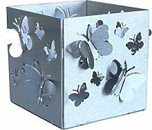 Feuer und Stahl Teelichthalter Schmetterlinge aus Edelstahl,3D, Minifackel, Kerzenständer, Windlicht, Kerzenhalter, Dekoration, Geschenkidee