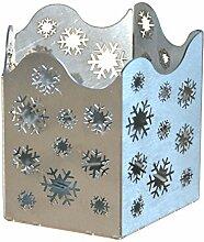 Feuer und Stahl Teelichthalter Schneeflocken aus Edelstahl, Minifackel, Kerzenständer, Windlicht, Kerzenhalter, Dekoration, Winter, Weihnachten, Eiskristalle, Geschenkidee