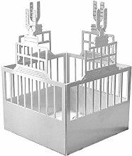 Feuer und Stahl Teelichthalter U-Turm aus Edelstahl, Minifackel, Kerzenständer, Windlicht, Kerzenhalter, Ruhrgebiet, Bier, Brauerei, Geschenkidee, Dekoration