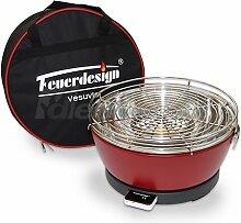 Feuerdesign Holzkohle Tischgrill Vesuvio rauchfrei