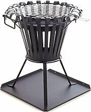 Feuerkorb 54 Cm I Grill schwarz I Stilvoller Holzkohlegrill I Gartenofen, Feuerschale, Kaminofen I Garten Feuerstelle