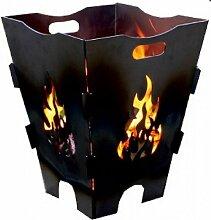 Feuerkorb aus Stahl, Stecksystem, Feuerstelle