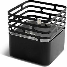 Feuerkorb Cube höfats schwarz, Designer Thomas