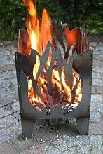 Feuerkorb Feuersäule 31x32x47cm Motiv Flamme Gr.L