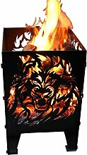 Feuerkorb Feuersäule Design: Löwe Gr. XXL