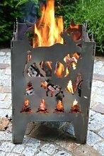 Feuerkorb / Feuersaeule Motiv Elch Gr. XXL