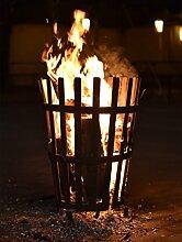 Feuerkorb, groß, aus 6mm Stahl! Massives Eisen - 1A Qualität! Feuerschale Gartenfeuer Ros