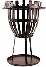 Feuerkorb Metall 48cm x Ø68cm Grill Feuerstelle