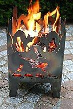 Feuerkorb Motiv Katze L 30,5 x 32 x 47 cm
